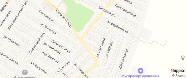 Песочная улица на карте Жуковки с номерами домов