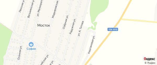 Улица им Героя России Титова на карте Жуковки с номерами домов