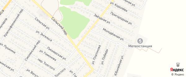 Улица Космонавтов на карте Жуковки с номерами домов