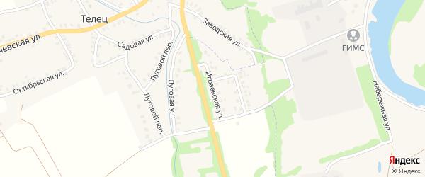 Играевская улица на карте Трубчевска с номерами домов
