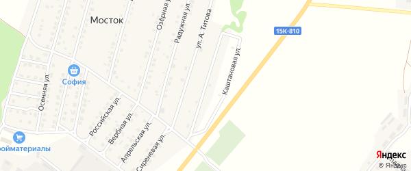Каштановая улица на карте Жуковки с номерами домов