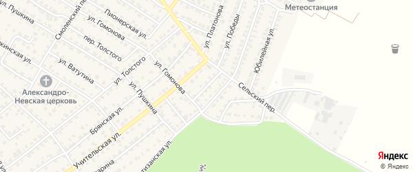 Переулок Гомонова на карте Жуковки с номерами домов