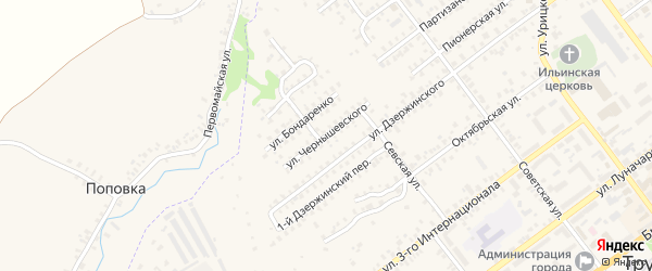 Улица Чернышевского на карте Трубчевска с номерами домов