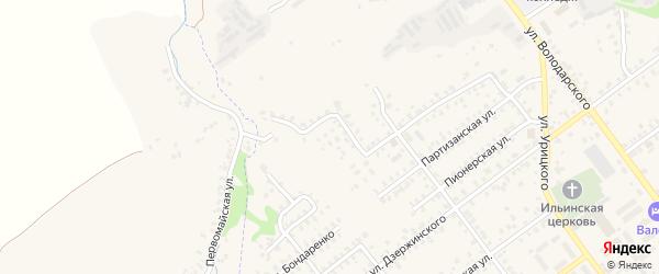2-й Партизанский переулок на карте Трубчевска с номерами домов