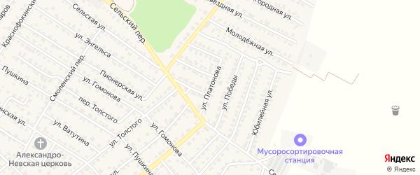 Улица Платонова на карте Жуковки с номерами домов