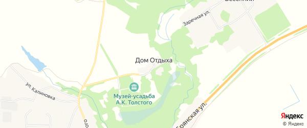 Карта поселка Дома Отдыха в Брянской области с улицами и номерами домов