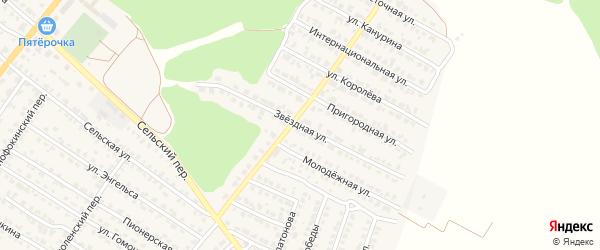 Звездная улица на карте Жуковки с номерами домов
