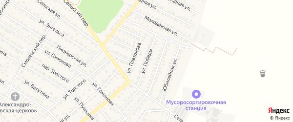 Улица Победы на карте Жуковки с номерами домов