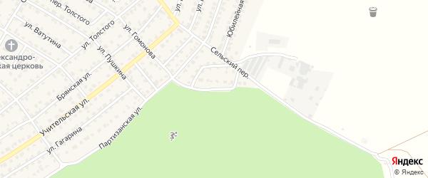 Партизанский переулок на карте Жуковки с номерами домов