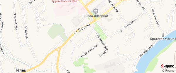 Красноармейский переулок на карте Трубчевска с номерами домов