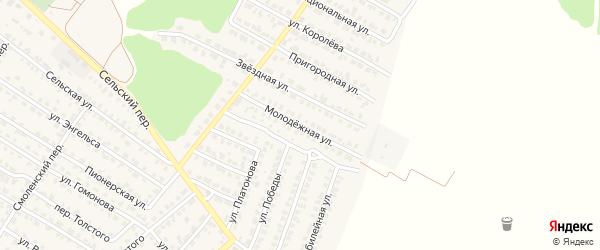 Молодежная улица на карте Жуковки с номерами домов