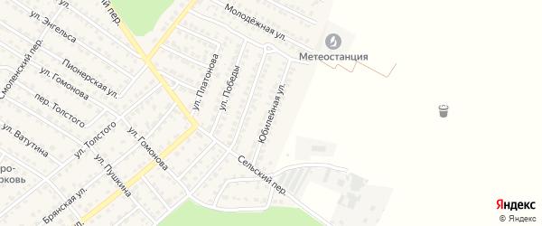 Юбилейная улица на карте Жуковки с номерами домов