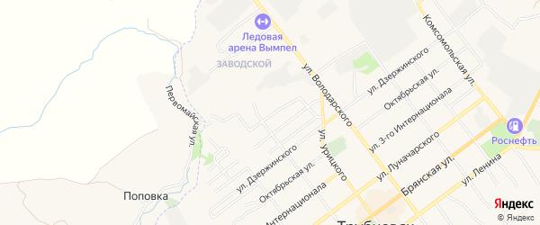 ГСК Гаражный массив N6 на карте 1-й Партизанского переулка с номерами домов