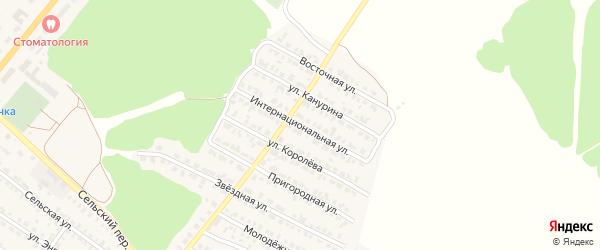 Интернациональная улица на карте Жуковки с номерами домов