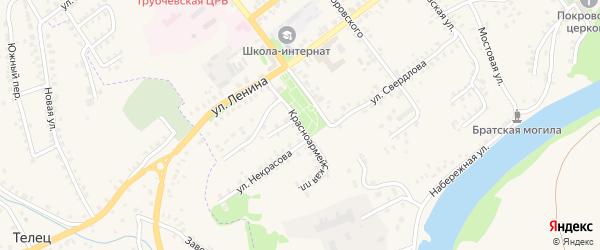 Красноармейская площадь на карте Трубчевска с номерами домов