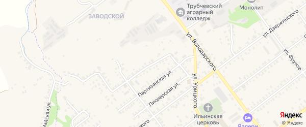 1-й Партизанский переулок на карте Трубчевска с номерами домов