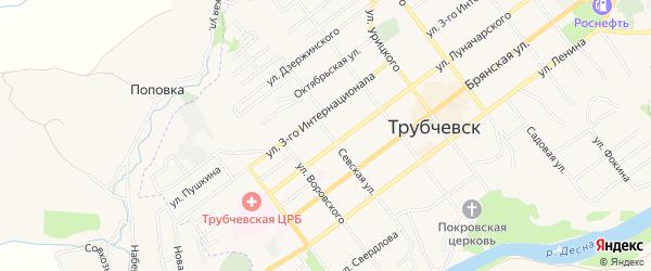 Территория Гаражный массив N11 на карте Севской улицы с номерами домов