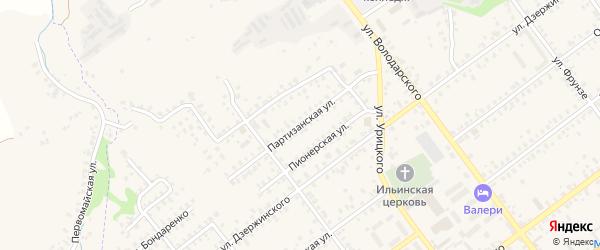 Партизанская улица на карте Трубчевска с номерами домов