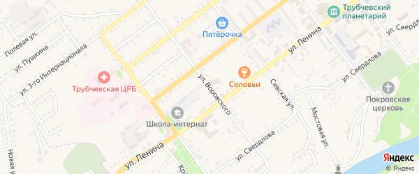 Улица Воровского на карте Трубчевска с номерами домов