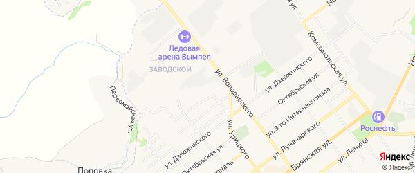 Территория Гаражный массив N9 на карте улицы Урицкого с номерами домов