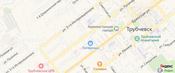 Севская улица на карте Трубчевска с номерами домов