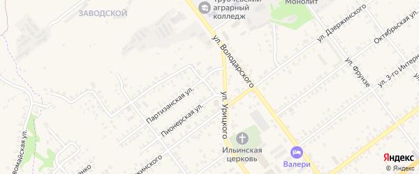 Пионерская площадь на карте Трубчевска с номерами домов