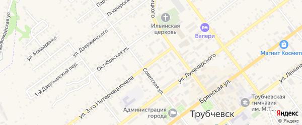 Улица 3 Интернационала на карте Трубчевска с номерами домов