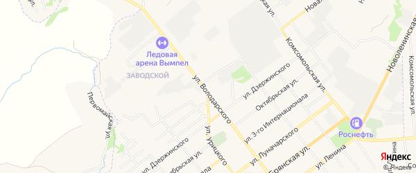 Территория Гаражный массив N12 на карте улицы Володарского с номерами домов
