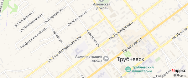 Советская улица на карте Трубчевска с номерами домов