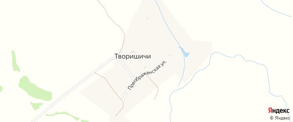 Преображенская улица на карте села Творишичей с номерами домов
