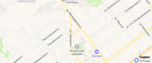 Улица Дзержинского на карте Трубчевска с номерами домов