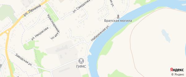 Набережная улица на карте Трубчевска с номерами домов