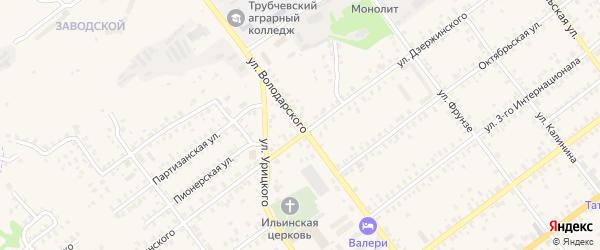 Улица Володарского на карте Трубчевска с номерами домов