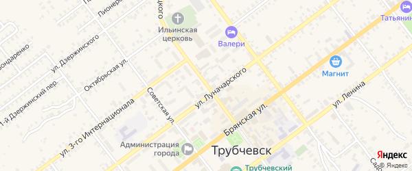 Улица Урицкого на карте Трубчевска с номерами домов