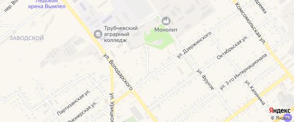 2-й Дзержинский переулок на карте Трубчевска с номерами домов