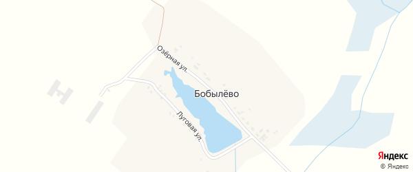 Озерная улица на карте деревни Бобылево с номерами домов