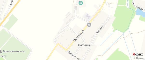 Западная улица на карте поселка Латыши с номерами домов