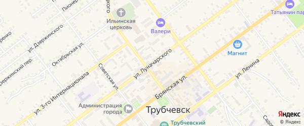 Улица Луначарского на карте Трубчевска с номерами домов