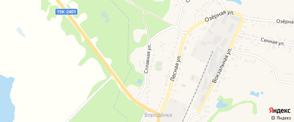 Сплавная улица на карте Трубчевска с номерами домов