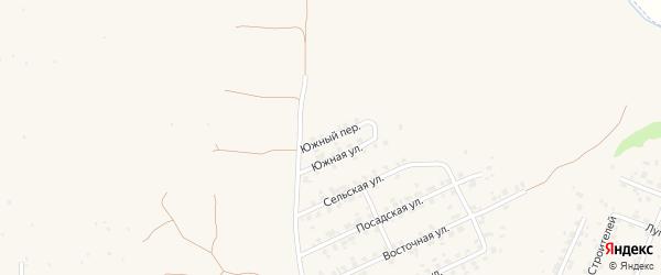 Южный переулок на карте Трубчевска с номерами домов