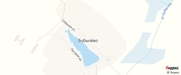 Зеленая улица на карте деревни Бобылево с номерами домов