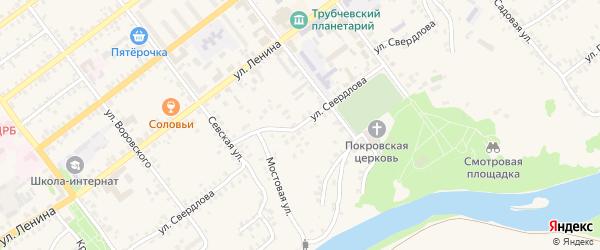Улица Свердлова на карте Трубчевска с номерами домов