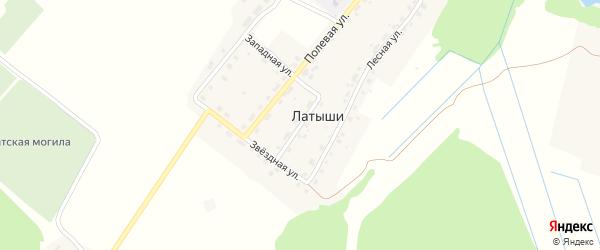 Новая улица на карте поселка Латыши с номерами домов