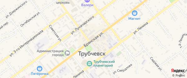 Брянская улица на карте Трубчевска с номерами домов