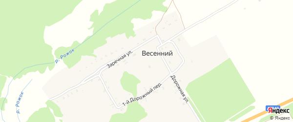 1-й Дорожный переулок на карте Весеннего поселка с номерами домов