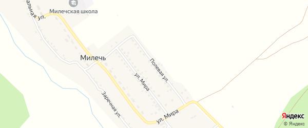 Полевая улица на карте села Милечи с номерами домов