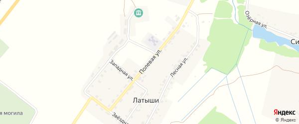 Полевая улица на карте поселка Латыши с номерами домов