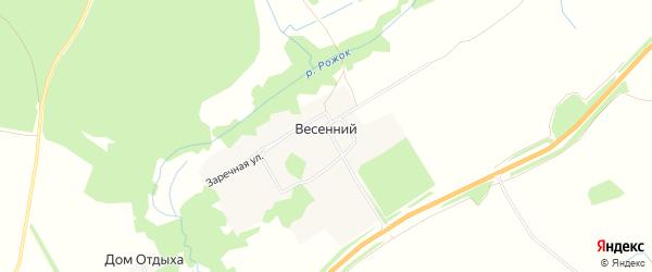 Карта Весеннего поселка в Брянской области с улицами и номерами домов
