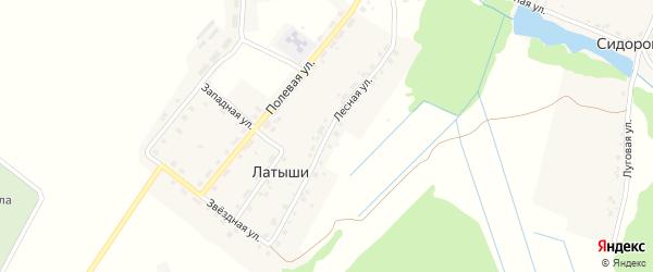 Лесная улица на карте поселка Латыши с номерами домов