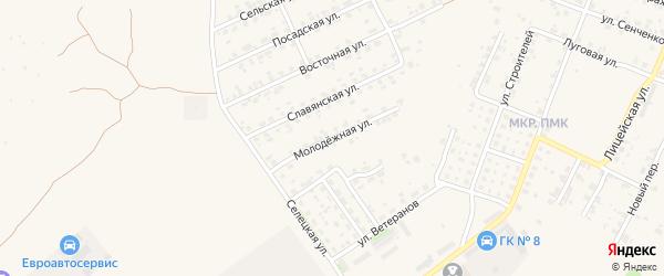 Молодежная улица на карте Трубчевска с номерами домов